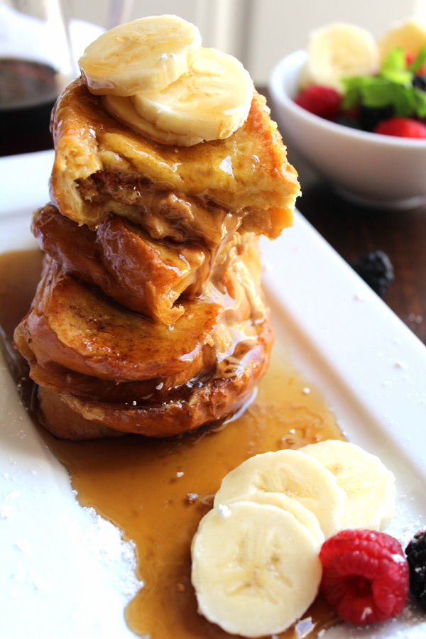 Banana Almond Butter French Toast