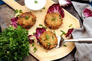 Not So Old Fashioned Cod Cakes with Yogurt Lemon Dill Sauce