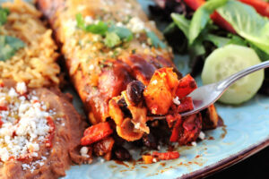 Sweet Potato Black Bean Vegetarian Enchiladas