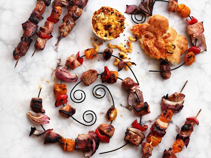 Brandy & Honey Glazed Pork Kebabs | Grilling Favorites