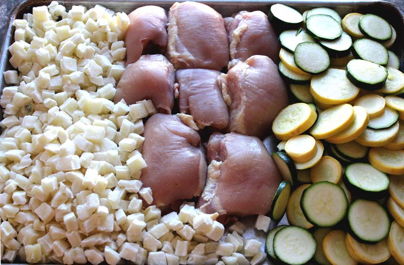 Easy One Pan Chicken and Veggies Hunger Satisfied