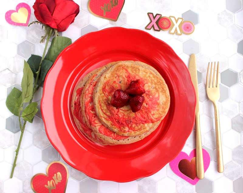 Best-valentine's day-marbled-strawberry-pancakes