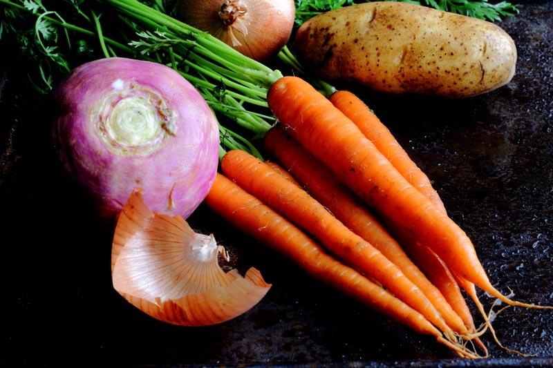 Carrots, Turnip, Potatoes, Onion Vegetables Needed to Make Irish Stew