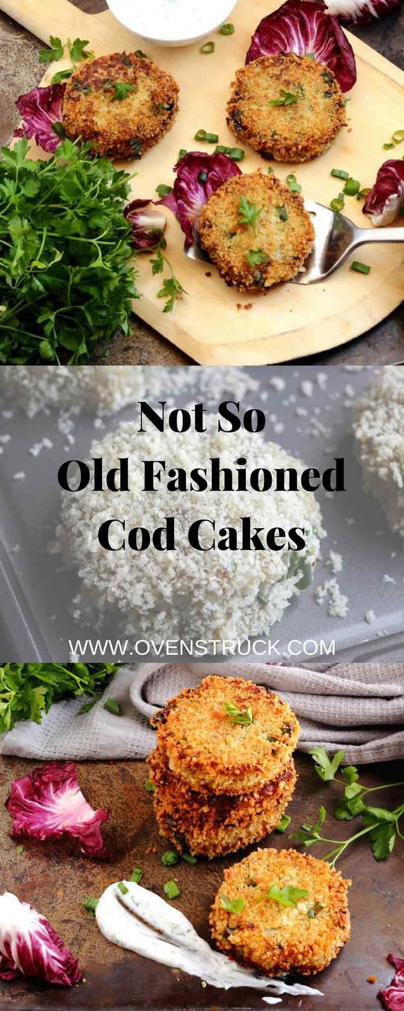 Old Fashioned Cod Cakes with Lemon Yogurt Dill Sauce