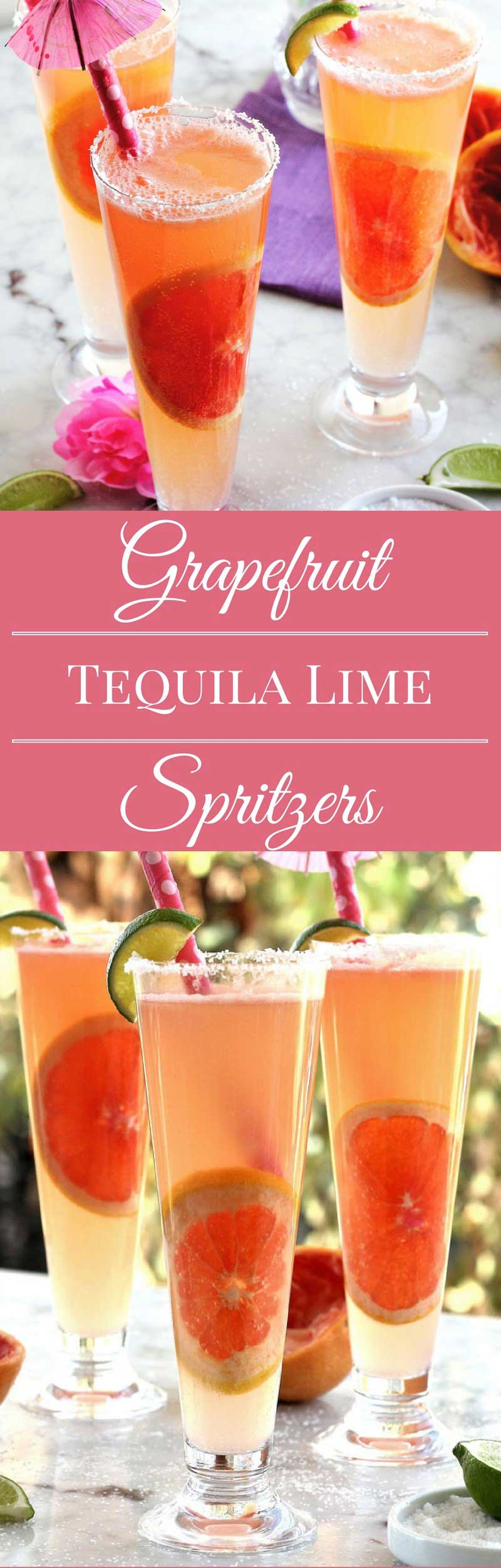 Tequila Lime Spritzer Cinco de Mayo Summer refreshing drink